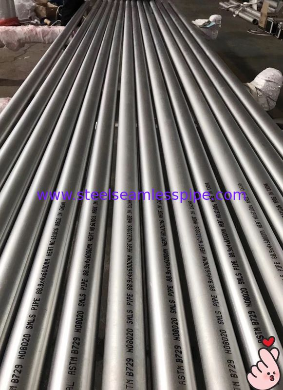 ASTM B729 Nickel Alloy Pipe High Strength Pickled / Annealed Tube Finish